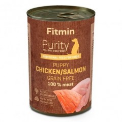 Fitmin Purity Tin salmon with chicken for PUPPY